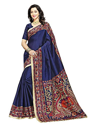 BuyOnn Sarees For Women Latest Design Party Wear Orange Color Bhagalpuri Silk...