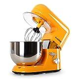 Klarstein Bella Orangina robot de cocina (1.6 HPrecipiente de acero inoxidable de 5 litros, 3 accesorios para batir y amasar) - naranja