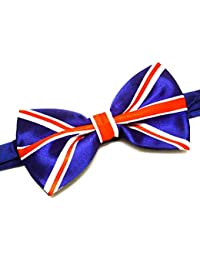 2ec6e9e24b62 La Peach Fashions Latest Union Jack Print Beautiful Bow Tie Fancy Dress  Neck Tie Adjustable Size