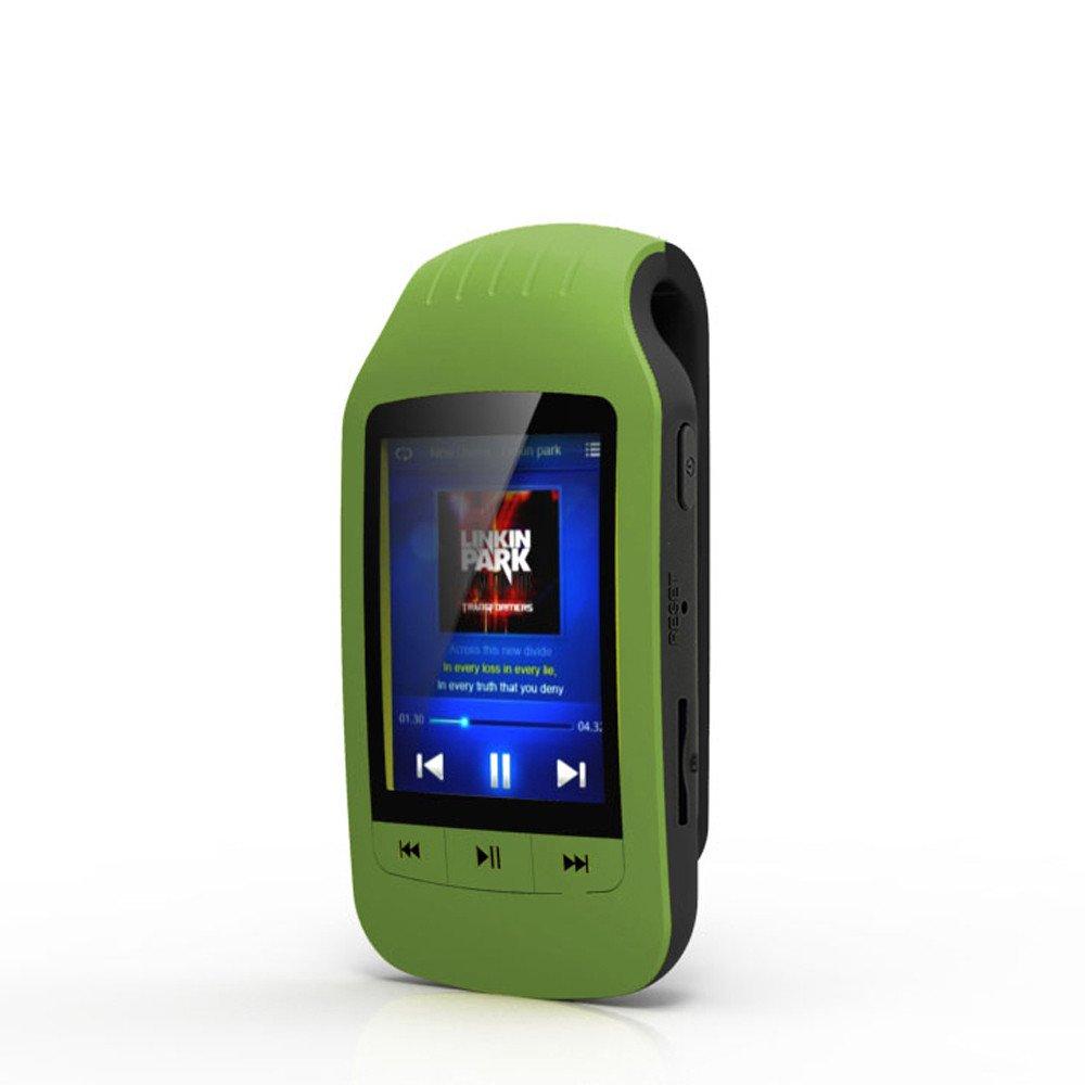 Gaddrt mini clip metal USB MP3Music media player- supporto Micro SD Card TF, green