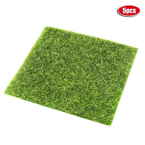 Jeffergarden 5 Stücke 5,9 * 5,9 in Simulierte Rasen Künstliche Dekorative Moos Micro Landschaft DIY -
