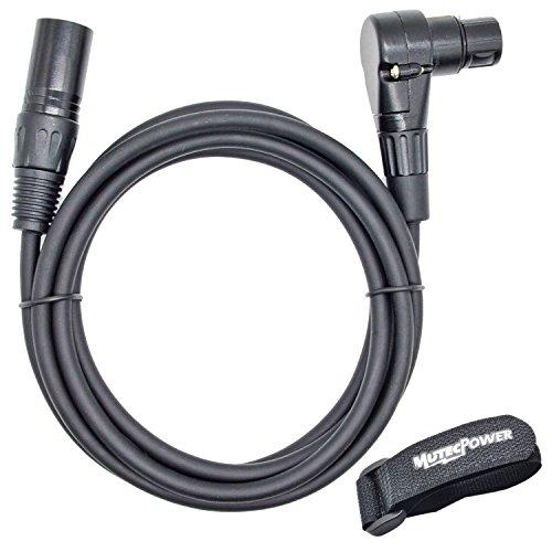 Cavo del microfono XLR maschio a angolo retto femminile | 1 Metro | per microfoni e dispositivi professionali
