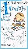 Geburtstags-Karte–Son (Pop-Up) mit 1