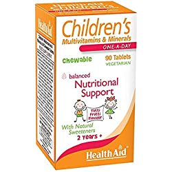 HealthAid Children's MultiVitamins and Minerals - 90 Chewable Tablets