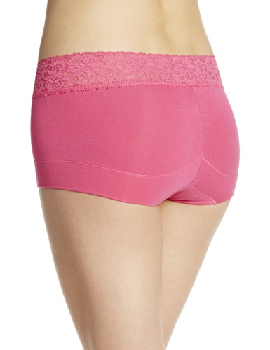 Maidenform Damen Hipster Shorty Coton & Dentelle - Pink About It