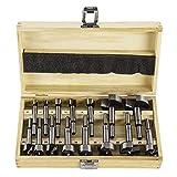 Forstnerbohrer 10-50mm im Holzkasten Forstnerbohrer 15 Satz Holzbohrer SN0323
