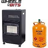 NUEVO 4.2kw portátil CASA Butano Fire Calor Gas Estufa 35mm REGULADOR Manguera