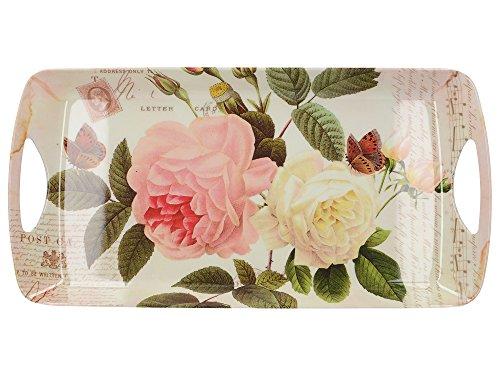 Creative Tops Rose Garden Kleines, luxuriöses Serviertablett aus Melamin, 38,5 x 20 cm (15 x 7¾ Zoll) -