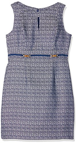 Tahari ASL Louisa, Gonna Donna, Blue (Navy/White), 38