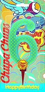 Cereria de Giorgio ch00002_ 66Vela Cumpleaños gigante Chupa Chups Número 6con soporte