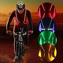 Reflektierende Sicherheit Led Weste zum Laufen, Wandern, Radfahren, Snowboarden, Leuchtende Sicherheitsbänder mit hoher Sichtbarkeit, verstellbar, leicht, wasserdicht - für Männer, Frauen und Kinder