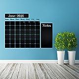 (100x 75cm) Tafel Vinyl Wand Aufkleber Kalender mit Notizen/Kreidetafel Monatsplaner Aufkleber für Zeichnen/radierbar Wandbild + Gratis Kreiden Box