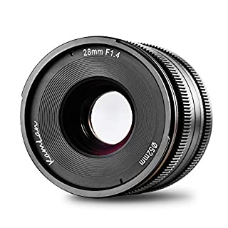 Kamlan 28 mm F / 1,4 APS-C, objectif à focale fixe et à grande ouverture, objectif principal standard pour appareils photo sans miroir (B07H5G2483) | Amazon price tracker / tracking, Amazon price history charts, Amazon price watches, Amazon price drop alerts