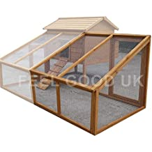 FeelGoodUK EXTENSIÓN Chicken COOP Run para CASA DE GALLINA DE Corral Arca Home Run Nest M