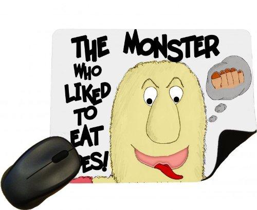 Eclipse Geschenk Ideen die Monster, die gerne Essen Zehen '- aus einer Reihe von Designs von Dave Schellfisch, der Autor der Kinder, die Buch-Mauspad/Mauspad Eclipse-essen