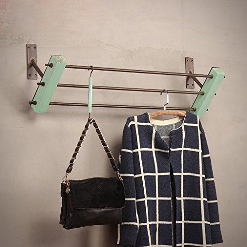 SH-qiang Kleiderständer Bekleidungsgeschäft Ständer für Kleiderständer Massivholz Wandmontierte Hängeständer Regale Regale Wandgarderobe (Größe : 100cm)