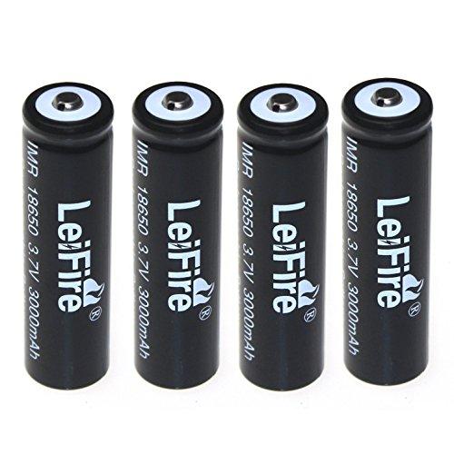 Galleria fotografica Batterie ricaricabili agli ioni di litio 4X18650, 3000mAh per torcia LED Leifire