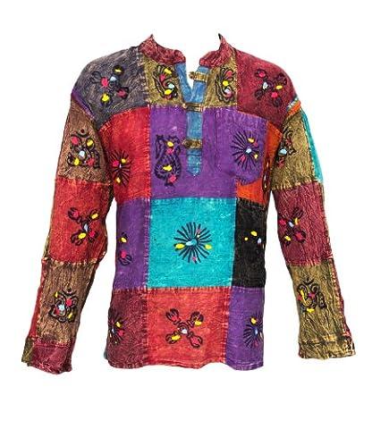 The Hippy Clothing Co. Patchwork Shirt Xxxl