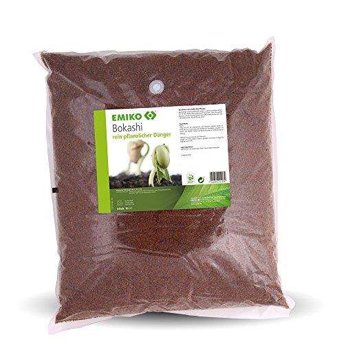 EMIKO® Bokashi rein pflanzlicher Dünger 10L mit EM Effektiven Mikroorganismen zum Humusaufbau