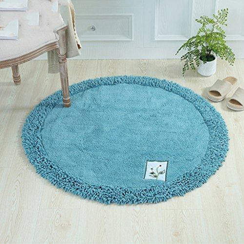 ich Runde Chenille Verdickt Teppich Wohnzimmer Couchtisch Büro Computer Stuhl Matten Badezimmer Saugfähigen Pad Teppich (Farbe : C, größe : Round-100cm) ()