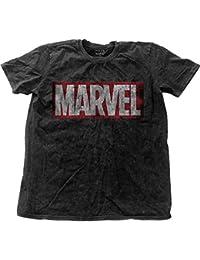 Marvel Comics T-Shirt Marvel Vintage Logo Homme Noir