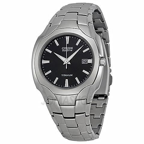 Citizen citoyen Mens Eco en voiture titane Horloge bm6560–54H