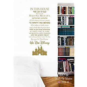 In This House We Do Disney Castle Wall Sticker Wall Art Decal (90 X 54cm Part 70