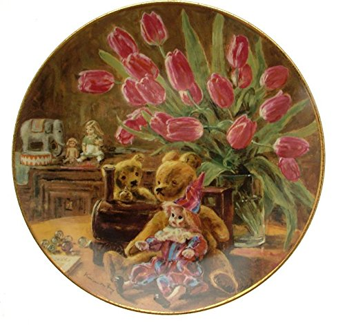 Leise Moments Klassische Dutch Still Life in die Kinderzimmer Blume Teller Teddy Teller