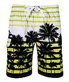 APTRO Uomo Colorate Strisce Coco Spiaggia Stampati Pantaloncini Verde EU XXXL