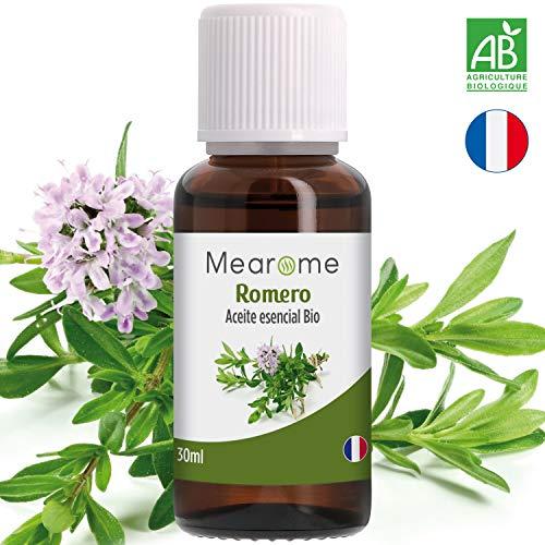 Aceite Esencial de Romero Bio 30ml Aceite Esencial Quimitipado Certificado HEBBD Terapéutico 100% Puro...