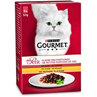 Gourmet Mon Petit Katzennassfutter Geflügel-Variationen, 8er Pack (8 x 6 x 50 g) Packung