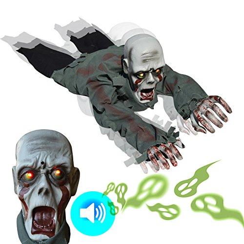 BenefitUSA Kriechende blutige Zombie-Geister, batteriebetrieben, Halloween, Krabbel-Requisite, Haunted House Yard Scary Decor