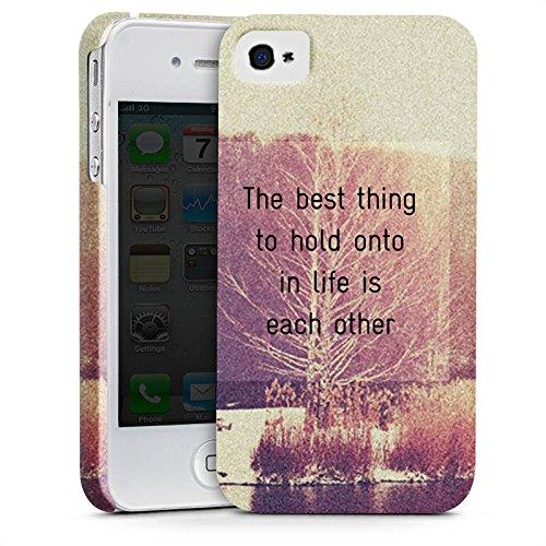 Apple iPhone X Silikon Hülle Case Schutzhülle Sprüche Bäume Liebe Premium Case glänzend