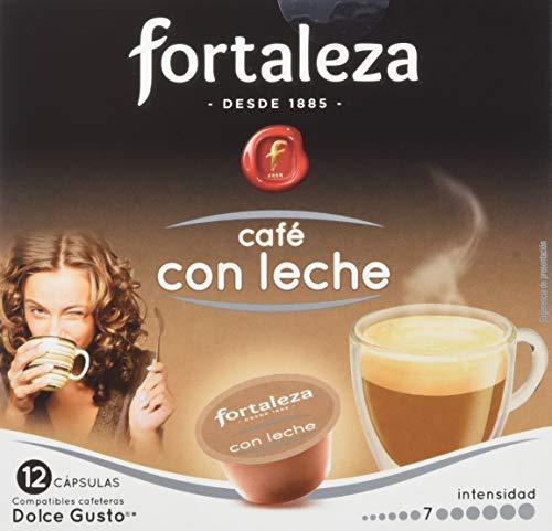 Café FORTALEZA - Cápsulas de Café Con Leche Compatibles con Dolce G