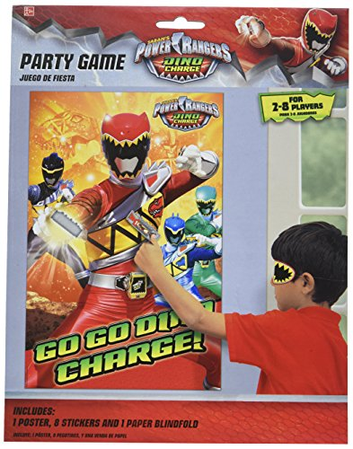 Power Rangers Dino Charge Party Game (Each) by Amscan
