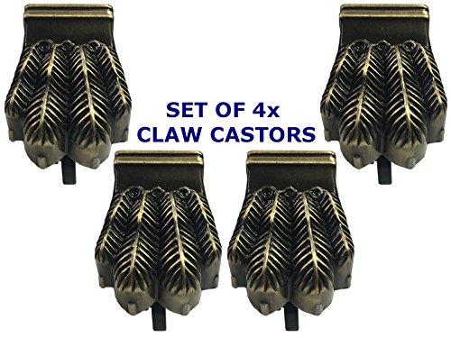 Set von 4x große Claw Fuß,/Fuß Rollen Rollen 32mm/11/10,2cm–Für Reproduktion...