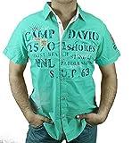 Camp David 1/2 Hemd CCU-1855-5598 Surf and Hope (Racing Green, S)