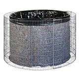 bellissa Gabionen-Wasserfass - 95560 - Wassertonne für den Garten - Gartenteich Tonne Bausatz inkl. Teichfolie und Trennvlies - Durchmesser 130/110 cm, Höhe...