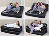 ZHENGTU 5 in 1 Inflatable 3 Seater Queen Size Sofa Cum Bed