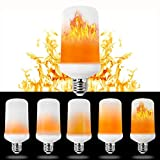 LED Flame Light Bulbs[3 Modes],Bombillas con efecto de llama LED,Snewill E27 Standard Flame Effect Fire Light Bulbs for Decoration Lighting on Christmas Halloween Holiday Party