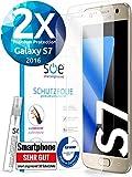 3D Schutzfolie [2 Stück] kompatibel mit Samsung Galaxy S7 [TÜV - Made in Germany] Premium HD Displayschutz-Folie kein Glas, Hüllenfreundliche Display-Folie, Panzer-Folie TPU Schmutzabweisend