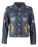 Maze Jeansjacke mit Verzierungen Roxana Blau