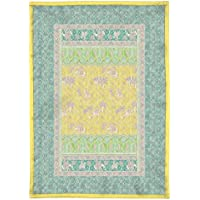 Bassetti Granfoulard.- Colcha copriletto Jasmine V4 amarilla para cama de 90, en medida 180 x 255 cm