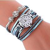 XBY.mi 1PCS Wickeln Sie um Das Armband Uhr Damenmode Damenuhr (See blau)