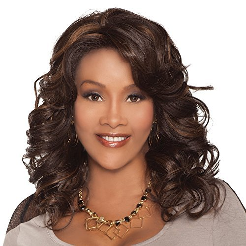 Vivica A. Fox GOLDIE-V New Futura Fiber, Deep Lace Front Wig in Color 1 by Vivica A. Fox