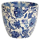 Ivyline Monza - Maceta para Interiores (Estilo Vintage), Color Azul