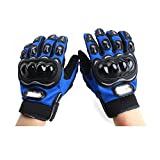 #6: Probiker Leather Motorcycle Gloves (Blue, L)