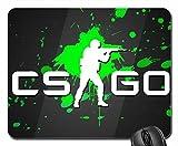 CSGO grün Splatter-Mauspad, Mousepad (25,9x 21,1x 0,3cm)