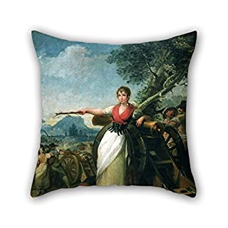 20 X 20 Inches / 50 By 50 Cm Oil Painting G??lvez, Juan - Agustina De Arag??n Pillow Cases Two Sides Is Fit For Birthday Kitchen Monther Girls Teens Boys Her