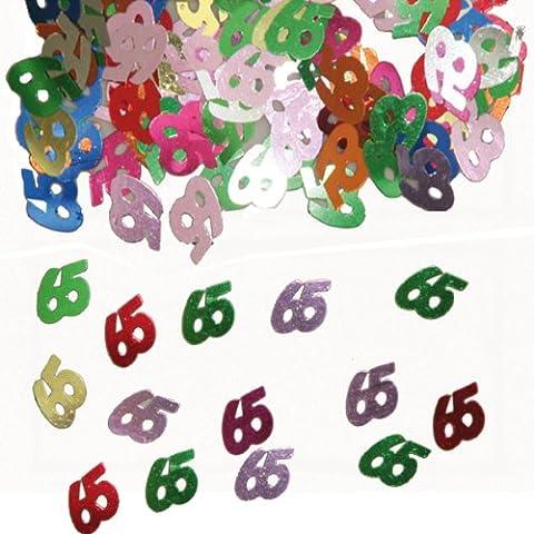 15g de confettis 65e Anniversaire Décoration anniversaire tableau